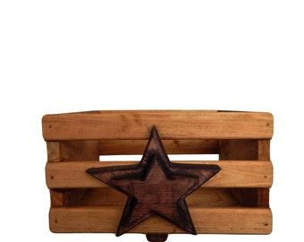 Wooden Box, Primitive Box, Rustic Wooden Box, Storage Box, Farmhouse Decor, Country Decor, Rustic Decor Rustic Storage Box, Primitive Decor