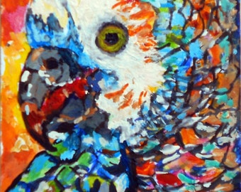 Parrot Painting ( Palette Knife)