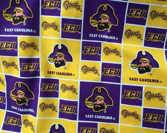 East Carolina University Pirates 100% Cotton Fabric By The Yard