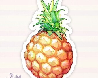 Fat Pineapple 1 vinyl sticker