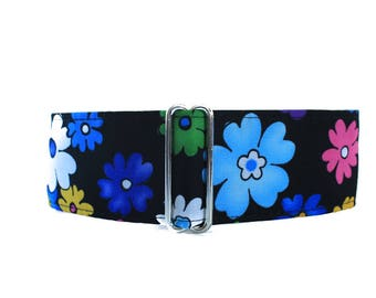 Floral Martingale Collar, 2 Inch Martingale Collar, Floral Dog Collar, Whippet Collar, Saluki Collar, Greyhound Martingale Collar