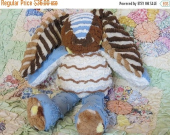 ON SALE Vintage Chenille Bedspread Bunny-Baby-Plush-Nursery