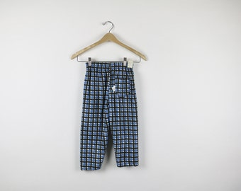 Vintage 1950s Pants / 1940s Pants / Deadstock Corduroy / Plaid Pants Vintage Child Girls Rockabilly Child Size 8 Plaid