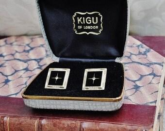 Kigu of London  - Cufflinks in original box - c1960s