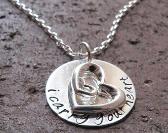 10 dollars off: I Carry Your Heart...custom sterling silver necklace