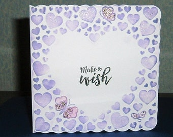 heart all occasions greetings card (ref 455)