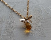 Bee Necklace, Honey Bee,  Gift for Her