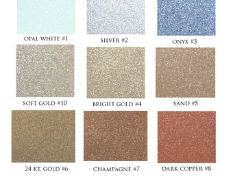 Glitter Cardstock Options