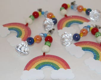 Rainbow Tablecloth Weights Set of 4