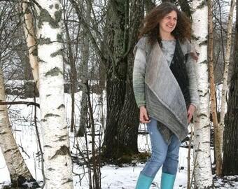 Birch Annie Statement Sweater -  kid mohair, cotton, silk custom blended ombre