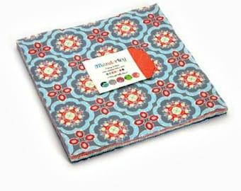 "Moda Cotton Quilt Fabric Bundle Manderley Layer Cake, Quilt Fabric, (42) 10"" Squares"