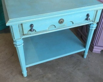 Vintage Aqua Table ~ ASCP Provence  - San Diego Local Pickup