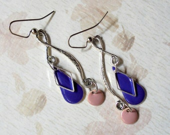 Lavender, Mauve and Silver Earrings (3400)