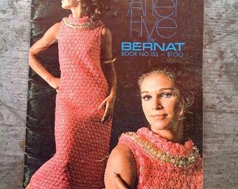 Vintage 1968  Bernat After Five Yarn Knitting Pattern Book 153