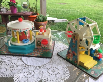 Fisher price merry-go-round, fisher price Ferris wheel both made in 1964