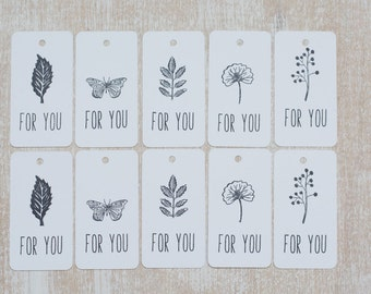"""10 handmade tag """"For you"""""""