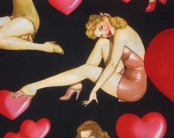 """Alexander Henry """"sweethearts"""" fabric 2003 By the Yard BTY"""