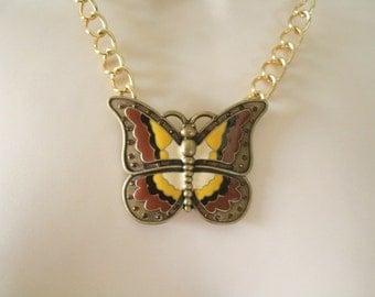 Butterfly Necklace, boho jewelry bohemian jewelry nature jewelry gypsy jewelry hipster hippie boho chic victorian  boho necklace