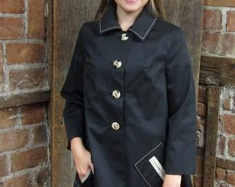 On Sale 1960s Mod A-Line Tent Raincoat jacket  Twiggy Retro 587
