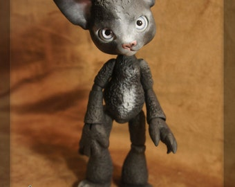 Scratch the Cat - Midnight Black Resin - ball joint doll / BJD - Spots #2