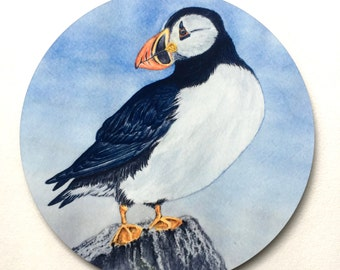 Puffin Trivet, gifts for bird lovers, gifts for bird watchers, gifts for wildlife lovers, gifts for nature lovers, gifts for birders, Maine