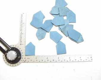 Leather Die Cut House Shapes/Crests/Pentagons (20 PCS.) Brown, Gray, Blue