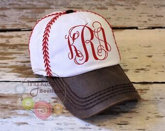 Baseball Stitch Hat - Monogrammed Hat  - Personalized Ball Cap