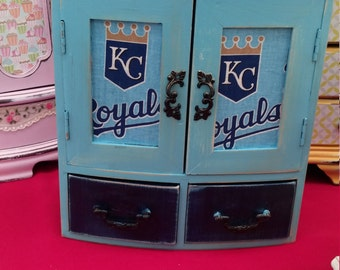 Blue Royals Shabby Chic Jewelry Box