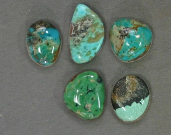 Turquoise cabochons lot Kingman and assorted mines,  B-149