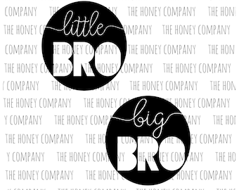Little Brother Big Brother SVG PNG DXF Istant Download Silhouette Cricut Cut File Vector File