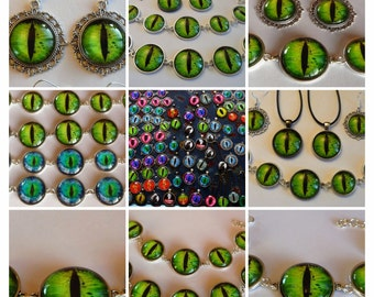 Stunning Green Dragon Eye Jewellery Set with Special Offer Free Keyring Coupon Code NEWYEARSALE2017FEB 10% Off Plus Thank you Coupon