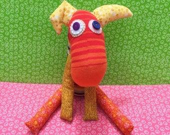 OOAK handmade recycled stuffed animal zeela