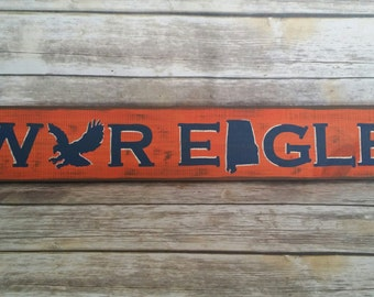 Auburn Sign, Auburn University, Auburn, Alabama, Auburn Tigers, War Eagle, Auburn War Eagle, Hand Painted Auburn, Distressed Sign, Dorm Room