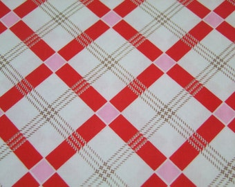 Red Plaid Fabric by the Yard Apple Farm  Elea Lutz Riley Blake