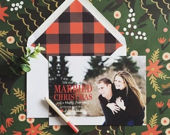 Into the Forest Married Christmas Save the Date
