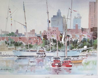 Howard N. Watson TALL SHIPS Watercolor Print Signed and Numbered 493/500