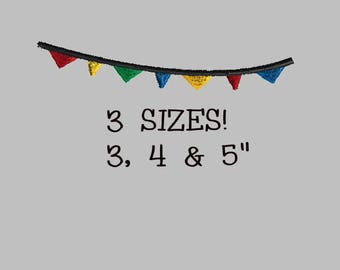 Buy 1 Get 1 Free! Birthday Banner Embroidery Design Circus Banner Embroidery Design Circus Flags Embroidery Birthday Flags Embroidery Design
