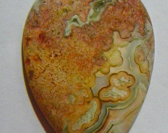 Red Crazy Lace Agate Designer Cabochon (G-068)