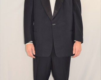 """Vintage Men's 50's Tony Martin After Six Blue Tuxedo Suit Size 44 R 43 x 28 +2"""""""