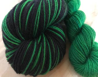 Kelly PINSTRIPES with contrast... Canon Hand Dyes William Self Striping Superwash Sock Yarn