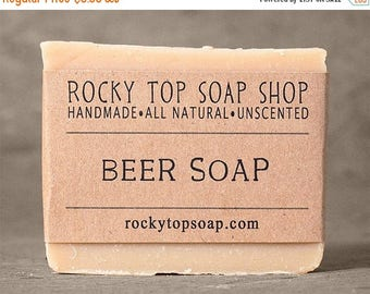 Beer Soap - All-in-One Soap, Men's Soap, Facial Soap, Hand Soap, Body Soap, Shampoo bar, Vegan Soap, Unscented Soap