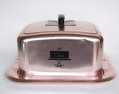 Vintage WEST BEND Pink Aluminum Square Cake Holder LOTS of Dings, Dents, Scratches, Scuffs, but Still Fabulous! Pink and Black Colors