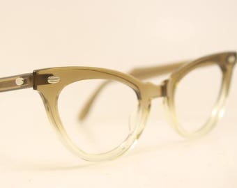 Unused Fade American Optical cat eye glasses vintage 1950s eyewear cateye frames New Old Stock