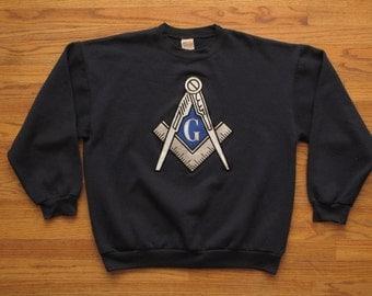 mens vintage freemason sweatshirt