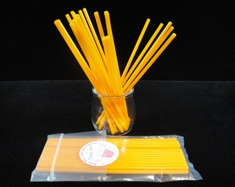 "Orange Cake Pop Sticks, Plastic Cake Pop Sticks, Halloween Cake Pop Sticks, Reusable Cake Pop Sticks, Cake Pope Supplies, 6"" - Qty 25"