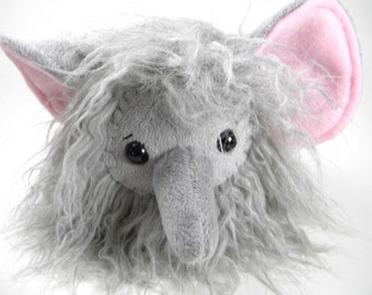 Plush Elephant Toy Stuffed Animal Gray Grey Elephant Softie Cute Toy Kids Gift Kawaii Elephant Children's Toy Woolly Mammouth Toy