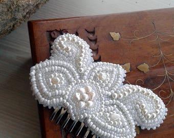 Wedding jewelry, wedding hair clip Bridal hair accessory Bridal hair flower clip Bridal hair comb bridal flower hairpiece Rose