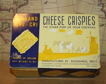 Vintage Holland Che-Cri Chees Crispies Tin - item #2295