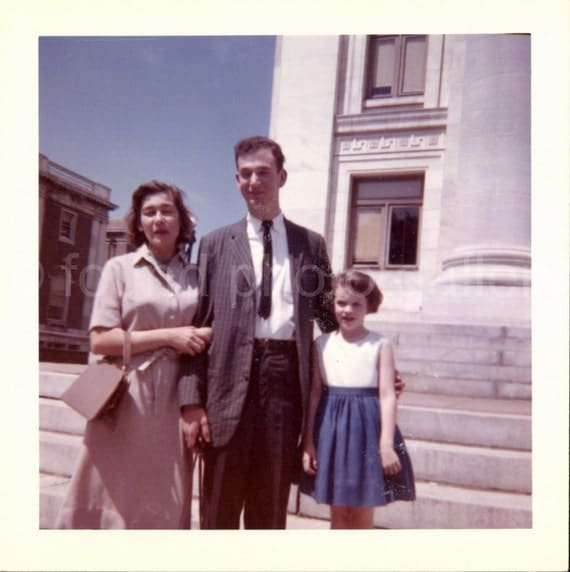 Vintage Photo, Family Vacation, Washington DC., Kodak Photo, Color Photo, Found Photo, Snapshot, Vernacular Photo, Travel Photo