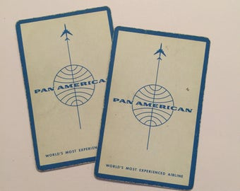 Vintage Pan Am Pan American Airline Playing Cards